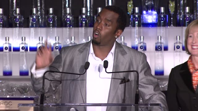 Sean 'Diddy' Combs on making Ciroc hiphop's official drink at the Sean 'Diddy' Combs Announces New Business Venture With Ciroc Vidka at Stone Rose in...