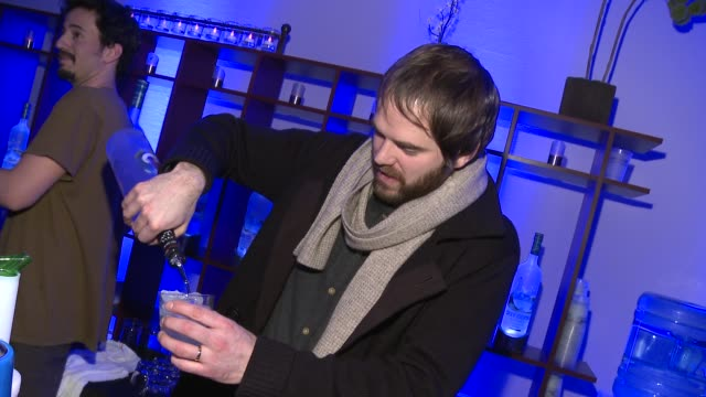 sean durkin at grey goose blue door on january 20, 2012 in park city, utah. - グレイグース点の映像素材/bロール