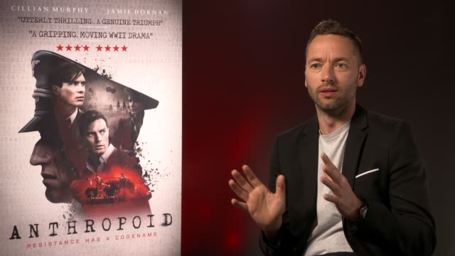 sean ellis on his approached to the film at 'anthropoid' interview at bfi southbank on august 30, 2016 in london, england. - bfi southbank stock videos & royalty-free footage