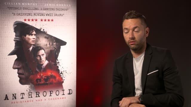 sean ellis on the authenticity on set, having to rebuilt scenes from scratch from photos at'anthropoid' interview at bfi southbank on august 30, 2016... - bfi southbank stock videos & royalty-free footage