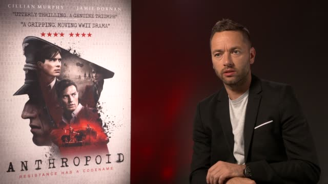 sean ellis on the story, how he became interested and started writing a script at 'anthropoid' interview at bfi southbank on august 30, 2016 in... - bfi southbank stock videos & royalty-free footage
