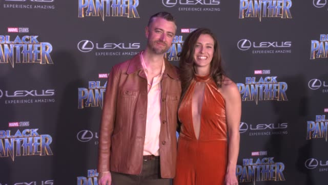 Sean Gunn and guest at the Marvel Studios' 'Black Panther' World Premiere at Dolby Theatre on January 29 2018 in Hollywood California