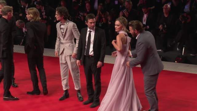sean harris tom glynncarney timothee chalamet director david michod lilyrose depp joel edgerton at the king red carpet arrivals 76th venice film... - lily stock videos & royalty-free footage