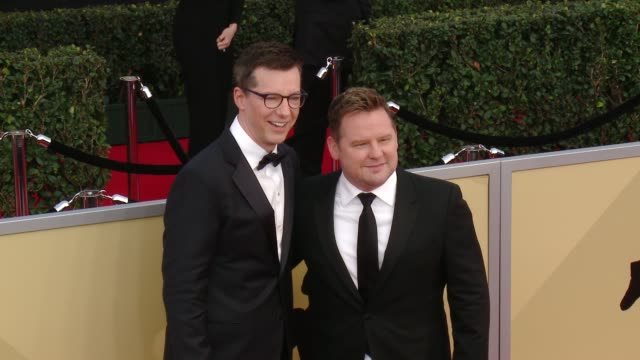 sean hayes and scott icenogle at the 24th annual screen actors guild awards at the shrine auditorium on january 21 2018 in los angeles california - sean hayes stock videos & royalty-free footage