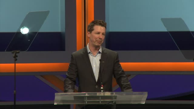 speech sean hayes at 29th anniversary sports spectacular gala in los angeles ca - sean hayes stock videos & royalty-free footage