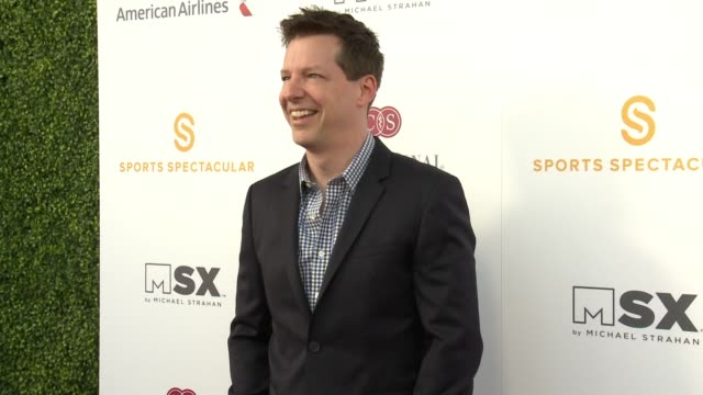 sean hayes at 33rd annual cedarssinai sports spectacular in los angeles ca - sean hayes stock videos & royalty-free footage