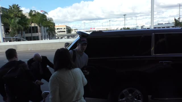 sean hayes at lax airport in los angeles at celebrity sightings in los angeles on january 07 2016 in los angeles california - sean hayes stock videos & royalty-free footage