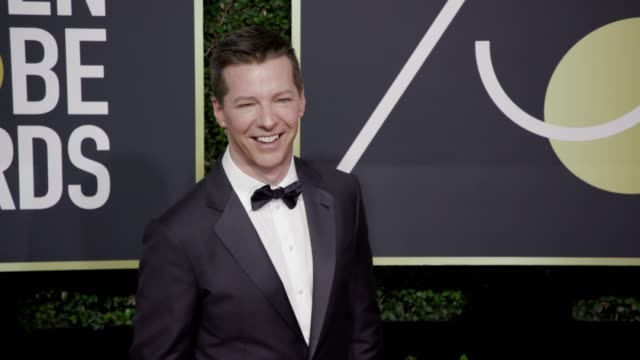 sean hayes at the 75th annual golden globe awards at the beverly hilton hotel on january 07 2018 in beverly hills california - sean hayes stock videos & royalty-free footage