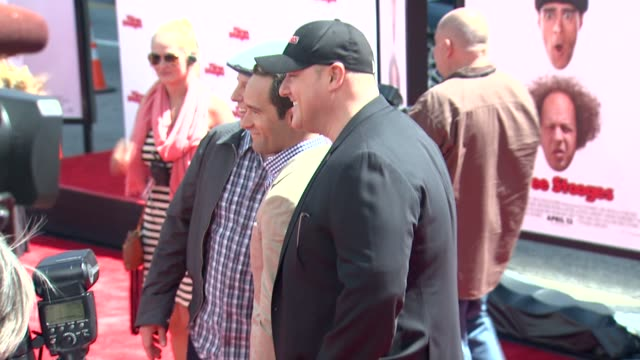 sean hayes chris diamantopoulos will sasso at the three stooges los angeles premiere on 4/7/12 in hollywood ca - sean hayes stock videos & royalty-free footage