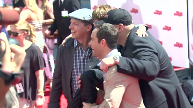 sean hayes max charles chris diamantopoulos will sasso at the three stooges los angeles premiere on 4/7/12 in hollywood ca - sean hayes stock videos & royalty-free footage