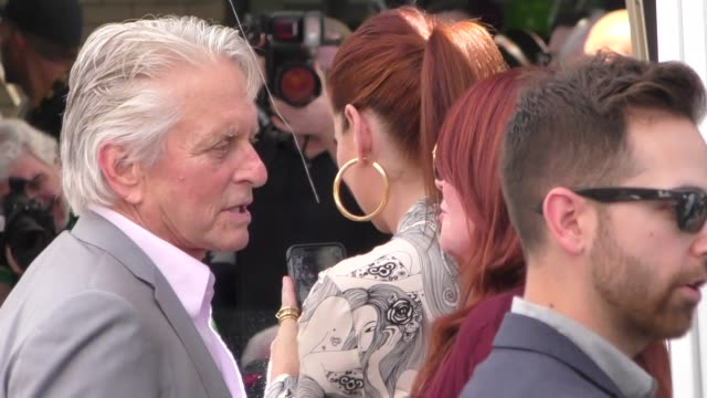 sean hayes, megan mullally, max mutchnick, michael douglas & debra messing at eric mccormack's star ceremony on the hollywood walk of fame in... - eric mccormack stock videos & royalty-free footage