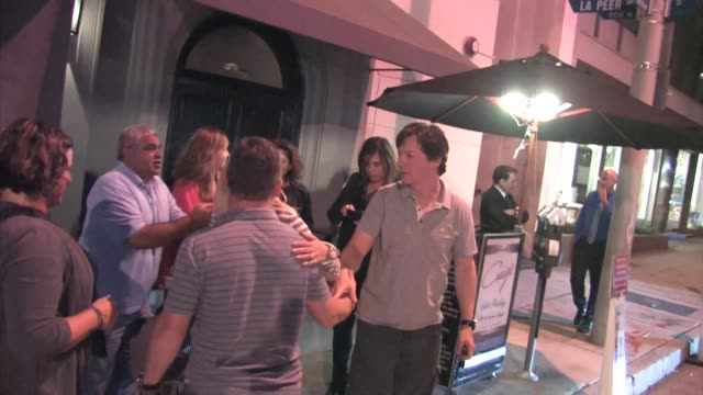 sean hayes outside craig's restaurant in west hollywood celebrity sightings on aug 20 2015 in los angeles california - sean hayes stock videos & royalty-free footage