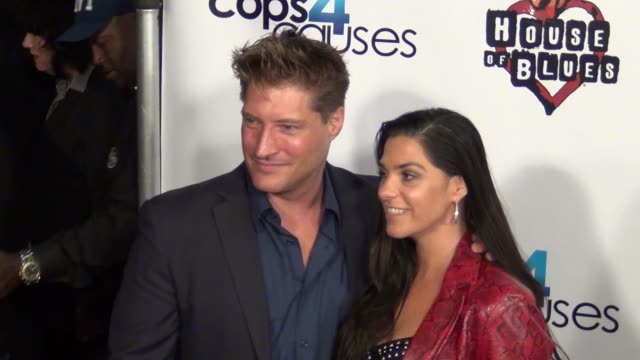 sean kana michele kanan arriving at cops 4 causes 2nd annual heroes helping heroes benefit concert at house of blues in west hollywood 09/11/13 sean... - benefit concert stock videos and b-roll footage