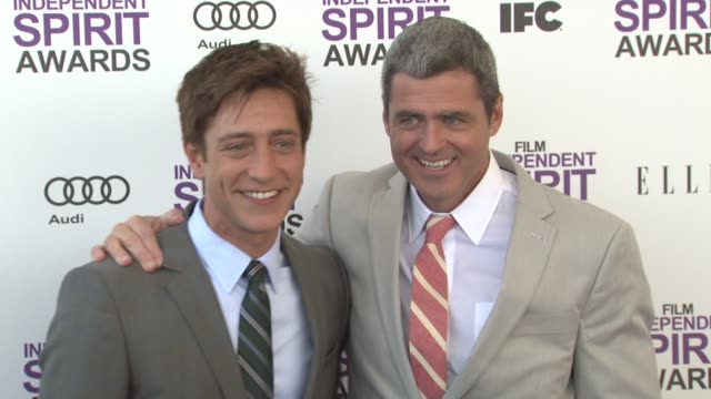 sean mcmanus and josh welsh at the 2012 film independent spirit awards - arrivals on 2/25/12 in santa monica, ca, united states. - typisch walisisch stock-videos und b-roll-filmmaterial