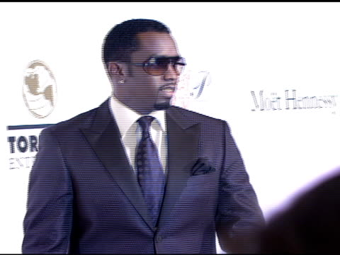 sean 'p diddy' combs at the denise rich marks 10th year of the gp foundation with an evening of stars and music at the 2007 angel ball at marriott... - marriott marquis new york stock videos & royalty-free footage