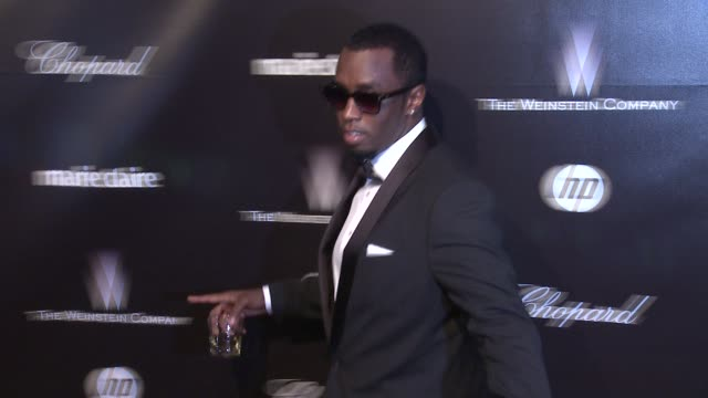 Sean 'P Diddy' Combs at The Weinstein Company Golden Globe AfterParty at The Beverly Hilton Hotel on 1/15/12 in Los Angeles CA