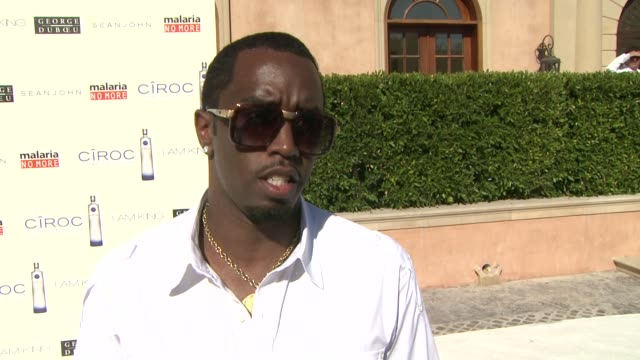 sean 'p. diddy' combs on how the white party came about, why he moved it to los angeles this year, shedding light on malaria no more, what makes... - 抜け殻点の映像素材/bロール