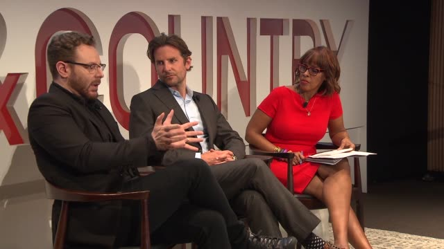 panel sean parker bradley cooper gayle king at fifth annual town country philanthropy summit at the hearst tower on may 9 2018 in new york city - gayle king stock videos & royalty-free footage