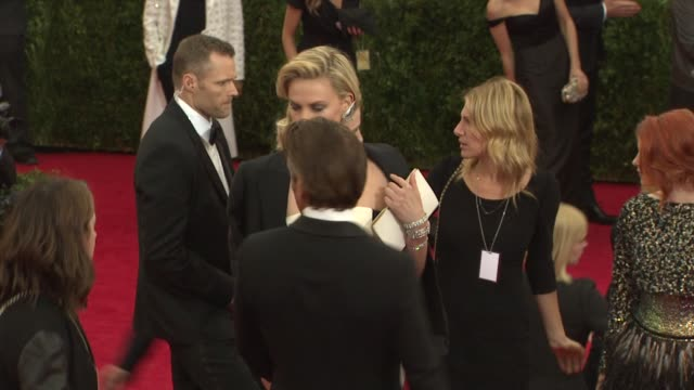 Sean Penn and Charlize Theron at 'Charles James Beyond Fashion' Costume Institute Gala Arrivals at The Metropolitan Museum on May 05 2014 in New York...