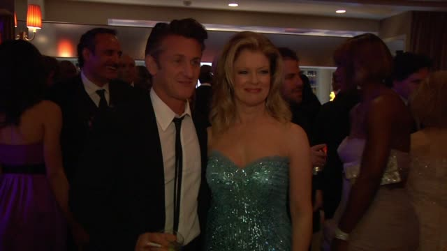 sean penn and mary hart at the inside the vanity fair oscar party 2010 at west hollywood ca - oscar party stock videos & royalty-free footage