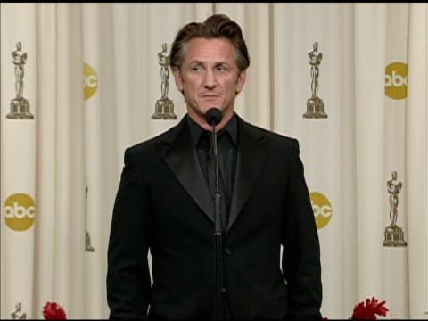 Sean Penn at the 81st Academy Awards Press Room at Los Angeles CA