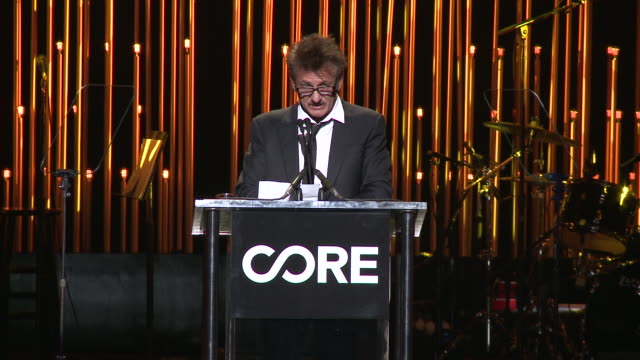 vídeos y material grabado en eventos de stock de a gala dinner to benefit core and 10 years of lifesaving work across haiti around the world at wiltern theatre on january 15 2020 in los angeles... - sean penn