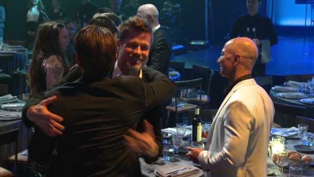 sean penn jeff bezos brad pitt and lena dunham at sean penn j/p hro gala gala dinner to benefit j/p haitian relief organization and a coalition of... - gala stock videos & royalty-free footage
