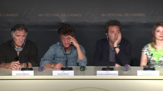 sean penn on scarlett johansson at the this must be the place press conference 64th cannes film festival at cannes - scarlett johansson video stock e b–roll