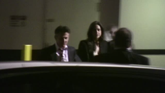 sean penn shannon costello at the beverly hilton hotel in beverly hills - the beverly hilton hotel stock videos & royalty-free footage
