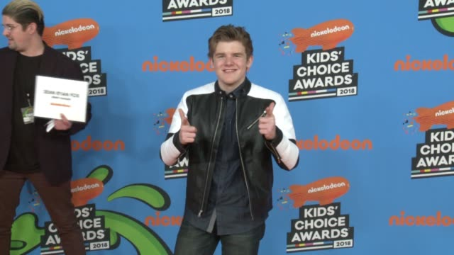 sean ryan fox at the nickelodeon's 2018 kids' choice awards at the forum on march 24 2018 in inglewood california - 31st annual nickelodeon kids' choice awards stock videos and b-roll footage