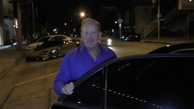 interview sean spicer talks about dancing with the stars outside craig's restaurant in west hollywood in celebrity sightings in los angeles - dancing with the stars stock videos & royalty-free footage