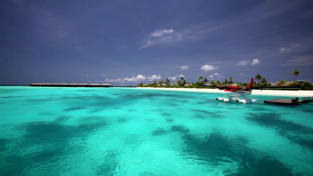 Seaplane, Maldives, Indian Ocean