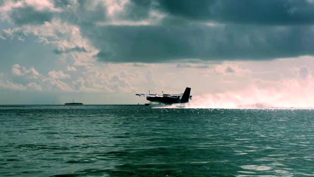 Seaplane takes off