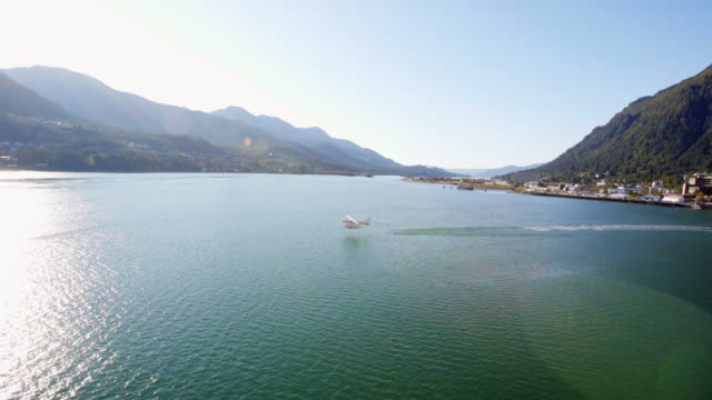 seaplane taking off in juneau - juneau stock videos and b-roll footage