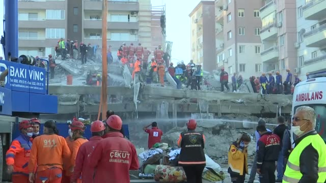search and rescue activities still continue in the earthquake-hit izmir province of western turkey to save as many people as possible out of the... - friday stock videos & royalty-free footage