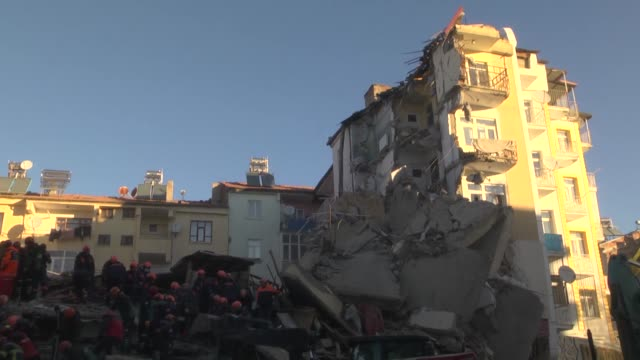 search and rescue efforts are underway after a deadly earthquake rattled eastern turkey, killing at least 21 people and injuring more than 1,030... - earthquake stock videos & royalty-free footage