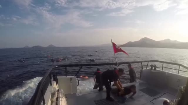 search and rescue operations are underway after a boat carrying irregular migrants capsized off the southwestern aegean coast of turkey on june 17... - capsizing stock videos & royalty-free footage