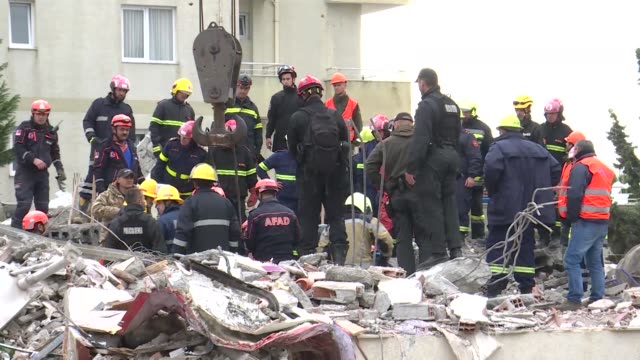 search and rescue operations continue after a 64 magnitude earthquake hit albania's durres city on november 28 2019 the death toll from tuesday's... - albania stock videos & royalty-free footage