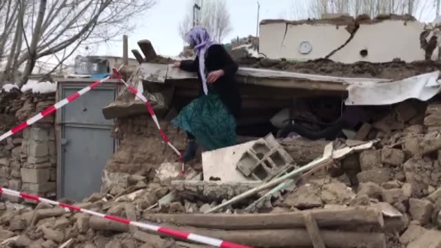 search and rescue operations continue after an earthquake in gelenler village of turkey's eastern van province bordering iran, on february 23, 2020.... - destruction stock videos & royalty-free footage