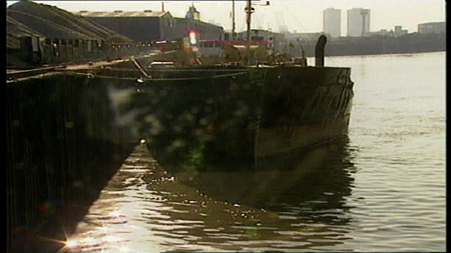 search and rescue training on thames 1989 day wreckage of marchioness pleasure boat on thames bowbelle tugboat helicopter flying over river salvage... - marchioness stock videos and b-roll footage