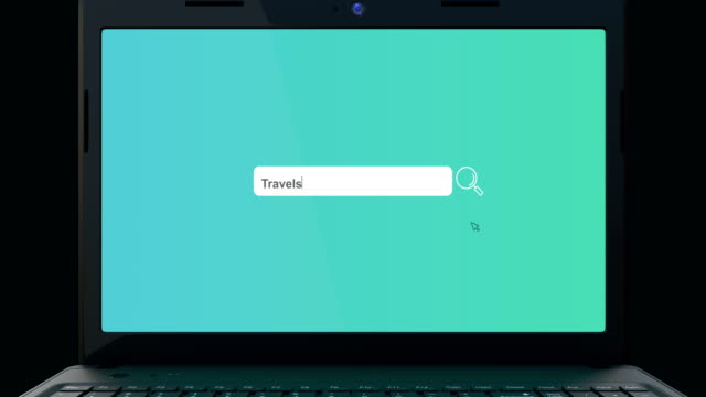 search bar element design,typing travel, search box on computer screen - search box stock videos & royalty-free footage