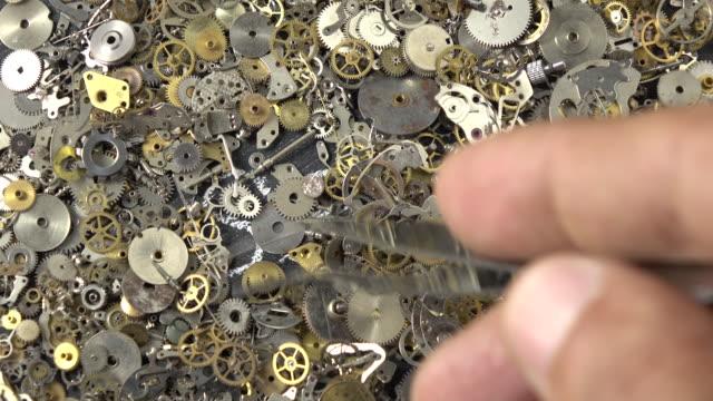 search engine optimization concept via clockwork parts - selimaksan video stock e b–roll