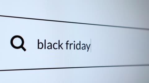 """sök efter """"black friday"""" ord på internet - rea bildbanksvideor och videomaterial från bakom kulisserna"""