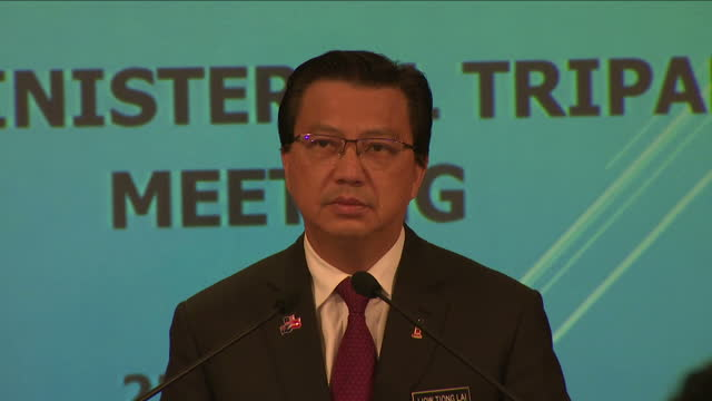 search for flight mh370 likely to be suspended showing interior shots malaysian transport minister liow tiong lai darren chester australian transport... - putrajaya stock videos & royalty-free footage