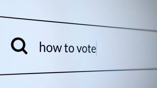 """search for """"how to vote"""" word on the internet - search engine stock videos & royalty-free footage"""