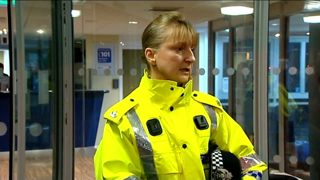 Police press conference SCOTLAND Edinburgh INT Superintendent Liz McAinsh press conference SOT / McAinsh answering questions from press SOT