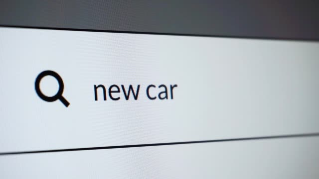 "search for ""new car"" word on the internet - searching stock videos & royalty-free footage"