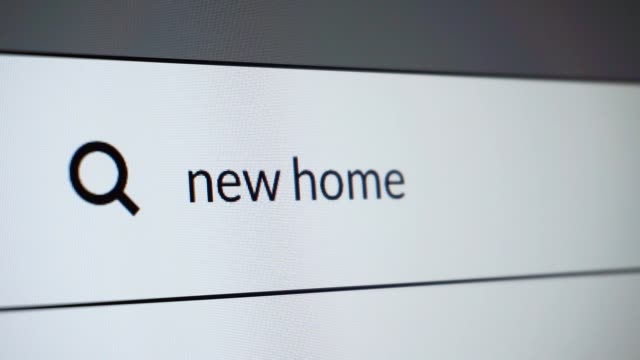 "search for ""new home"" word on the internet - real estate stock videos & royalty-free footage"