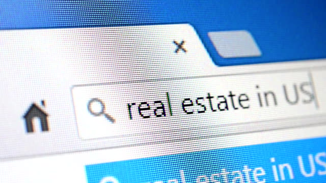 search for real estate - web browser stock videos & royalty-free footage