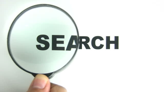search magnifying - magnifying glass stock videos & royalty-free footage